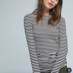 Anthropologie Newport Boat Neck Tee by Pure + Good